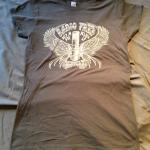 Womens Throwback T-shirt (Dark Charcoal)
